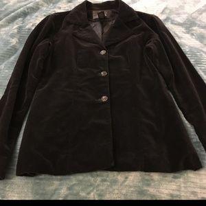 FRENCHI · Black Velvet Blazer - Size Medium